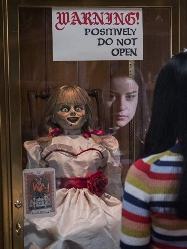 Poster for Annabelle Comes Home, one of the most fun horror movies 2019.